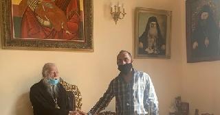 Συνάντηση υπευθύνου γραφείου εθελοντισμού με Πύργου με τον Μητροπολίτη