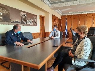 Συνάντηση Αντιπεριφερειάρχη Π.Ε Ηλείας Β. Γιαννόπουλου με Διευθυντή Αστυνομίας Ηλείας Π. Μάνδαλο
