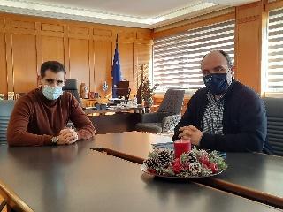 Συνάντηση Αντιπεριφερειάρχη Π.Ε Ηλείας Β. Γιαννόπουλου, με τον νέο πρόεδρο ΓΟΕΒ Πηνειού - Αλφειού