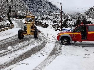 Επιτυχής η διαχείριση της χιονόπτωσης από το Δήμο Αρχαίας Ολυμπίας