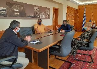 Συνάντηση Αντιπεριφερειάρχη Π.Ε Ηλείας Β. Γιαννόπουλου με τους Διευθυντές Εκπαίδευσης Ν. Ηλείας
