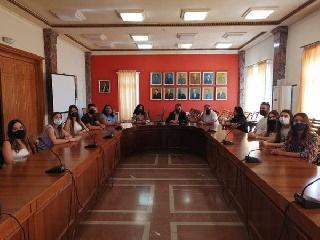 Συνάντηση δημάρχου Πύργου με την διευθύντρια και τους σπουδαστές του ΕΠΑΣ ΟΑΕΔ
